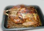 Праздничная индейка, фаршированная гречневой кашей