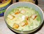Чесночный суп с гренками