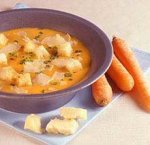 Суп-пюре из моркови с рикоттой
