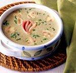 Суп-пюре из цуккини и грибов