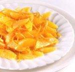 Салат из апельсинов с соусом из корицы