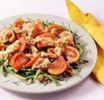 Салат из стручковой фасоли с тунцом