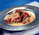 Свинина с соусом из белой смородины